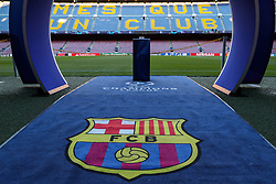 October 24, 2018 - Barcelona, Spain - BARCELONA, SPAIN, OCTOBER 24, 2018 - The FC Barcelona logo is seen prior to the UEFA Champions League, Group B football match between FC Barcelona and FC Internazionale on October 24, 2018 at Camp Nou stadium in Barcelona, Spain (Credit Image: © Manuel Blondeau via ZUMA Wire)