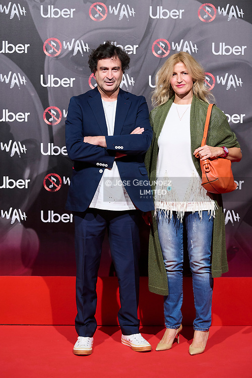 Pepe Rodriguez, Marivi Fernandez attends 'Wah' Musical Show World Premiere Red Carpet at IFEMA on October 7, 2021 in Madrid, Spain