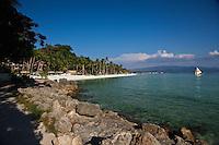 White sand beach on Boracay Island, Philippines.