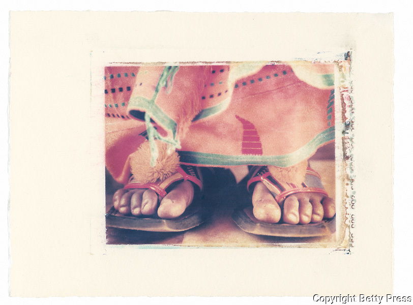 The footwear of a Paramount Chief at a special celebration, Ivory Coast<br /> Image size 4x5, Matted 12x10  Edition of 25 Archival Pigment Print