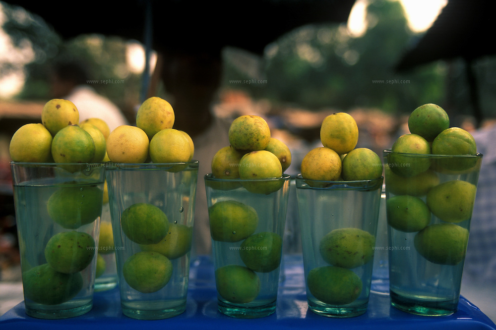 A vendor selling refreshing Nimbu pani or lemonade. Water carts are a boon during the harsh summer months.