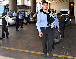 South Africa: Johannesburg: All Blacks players arrive at the InterContinental Johannesburg Sandton Towers hotel, the All Blacks will play the springboks at Loftus Versfeld in Pretoria over the weekend. Gauteng.<br />660<br />01.20.2018<br />Picture: Itumeleng English/African News Agency (ANA)