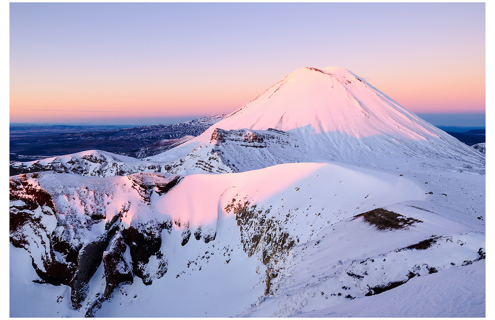 Mt Ngauruhoe from the Red Crater, Tongariro National Park.