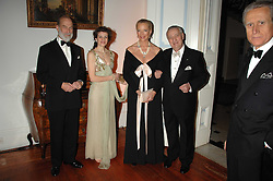 Left to right, HRH PRINCE MICHAEL OF KENT, MRS GIANMARIA BUCCELLATI, HRH PRINCESS MICHAEL OF KENT and GIANMARIA BUCCELLATI at a dinner hosted by the Italian Ambassador for the Buccellati family held at the Italian Embassy, Grosvenor Square, London on 28th March 2007.<br /><br />NON EXCLUSIVE - WORLD RIGHTS