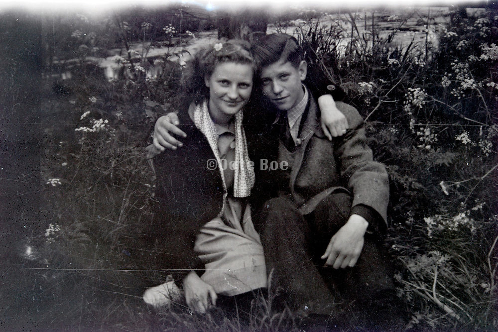 young loving couple 1950s Netherlands