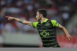 September 12, 2017 - Na - Athens, 09/12/2017 - Champions League 2017/2018: Olympiacos FC vs Sporting CP. Olympiacos FC (GRE) hosted this evening at the Stadio Georgios Karaiskakis - Piraeus stadium in Athens, Sporting Clube de Portugal (PRT) in the first match (group D) of the 2017/2018 Champions League group stage . Bruno Fernandes celebrates goal 0-3  (Credit Image: © Atlantico Press via ZUMA Wire)