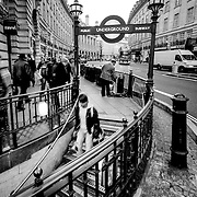 London Underground subway sign, London, England (December 2007)