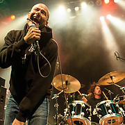 WASHINGTON, DC - May 5th, 2014 - Pete Stahl and Dave Grohl perform at the 9:30 Club in Washington D.C. as part of the birthday celebration for Trouble Funk's Big Tony. Stahl and Grohl are former bandmates in Scream, a punk band from Bailey's Crossroads, VA. (Photo by Kyle Gustafson / For The Washington Post)
