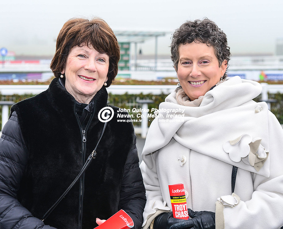 Pictured at   at Navan races 'Ladbrokes Troytown Chase & Ladies Day' are Marie McKenna, Navan and Marcella Carey, Ashbourne.<br /> <br /> Photo: GERRY SHANAHAN-WWW.QUIRKE.IE<br /> <br /> 24-11-2019