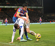Crystal Palace's Martin Kelly tussles with Sunderland's Connor Wickham<br /> <br /> - Barclays Premier League - Crystal Palace vs Sunderland- Selhurst Park - London - England - 3rd November 2014  - Picture David Klein/Sportimage