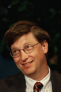 Bill  Gates at a conference in Washington, DC at a conference of computer software users in  1997<br /> Photo by Dennis Brack