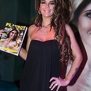 NLD/Amsterdam/20140410 - Presentatie Playboy met Melisa Schaufeli en haar cover