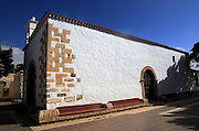 Historic village church dedicated to San Antonio de Padua, village of Toto, Pajara,  Fuerteventura, Canary Islands, Spain