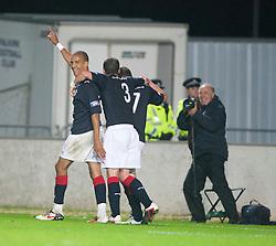 Falkirk's Farid El Alagui celebrates after scoring their second goal..Falkirk 3 v 2 Rangers..©Pic : Michael Schofield.