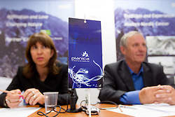 Barbara Kuerner Cad of SZS and Janez Bukovnik at press conference of Planica Organizing committee, candidate city for Nordic World Championship 2017, on May 22, 2012 in SZS, Ljubljana, Slovenia. (Photo by Vid Ponikvar / Sportida.com)