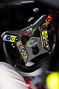 January 30-31, 2021. IMSA Weathertech Series. Rolex Daytona 24h:  #88 Team Hardpoint EBM, Porsche 911 GT3R GTD, steering wheel detail