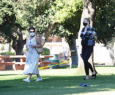 Sophie Turner enjoys the day at the park with Joe's family - 16 July 2020