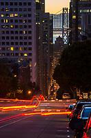 California Street & Bay Bridge, Downtown SF