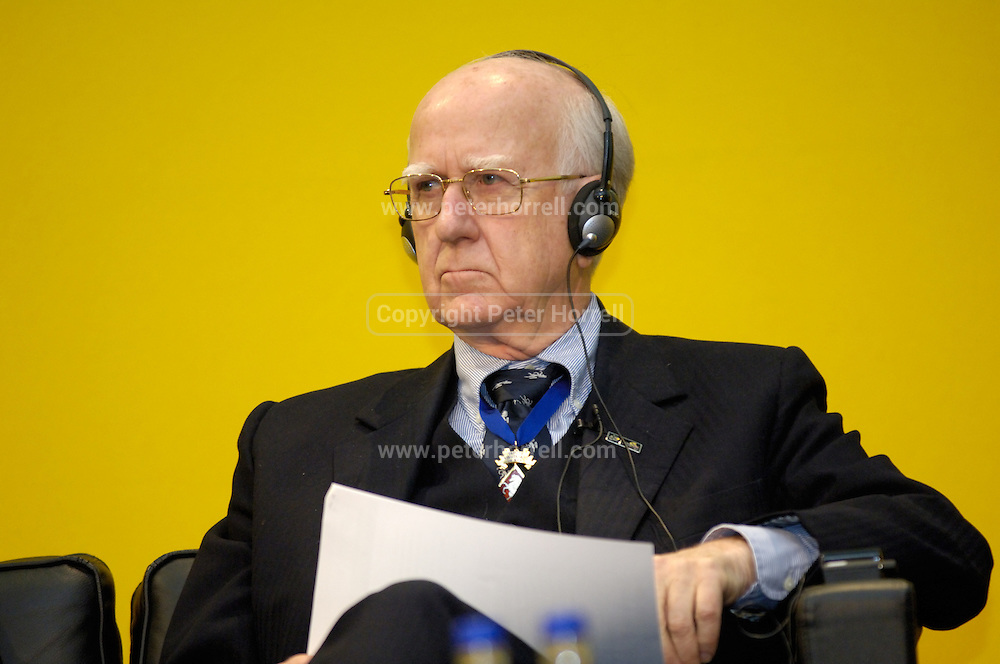 Professor Sir Bob Worcester at the official launch of London hosting the Prologue and Stage One of the 2007 Tour de France held at the Queen Elizabeth 2 Conference Centre on Thursday 9th February 2006.