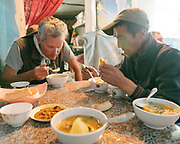 Lunch in Ishkashim. Sights and places to see while walking along the Tajikistan side of the Wakhan Corridor.