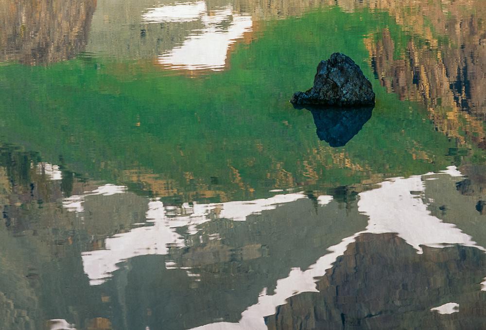 Upper Royal Basin, reflection in an alpine tarn, summer, Olympic National Park, Washington, USA