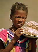 Senegalese Girl selling Cakes - Podor Senegal