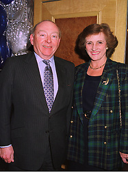 SIR BRIAN & LADY GOSWELL at a luncheon in London on 11th December 1997.<br /> MEF 11