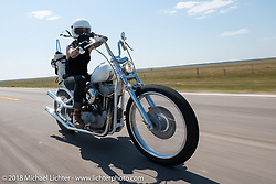 Savannah Rose on the Cycle Source Ride during the 78th annual Sturgis Motorcycle Rally. Sturgis, SD. USA. Wednesday August 8, 2018. Photography ©2018 Michael Lichter.
