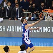 Anadolu Efes's Birkan Batuk during their Turkish Airlines Euroleague Basketball PlayOffs Round 3 match Anadolu Efes between Real Madrid at Abdi ipekci arena in Istanbul, Turkey, Tuesday April 21, 2015. Photo by Aykut AKICI/TURKPIX