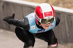February 7, 2019 - Ljubno, Savinjska, Slovenia - Eva Pinkelnig of Austria competes on qualification day of the FIS Ski Jumping World Cup Ladies Ljubno on February 7, 2019 in Ljubno, Slovenia. (Credit Image: © Rok Rakun/Pacific Press via ZUMA Wire)