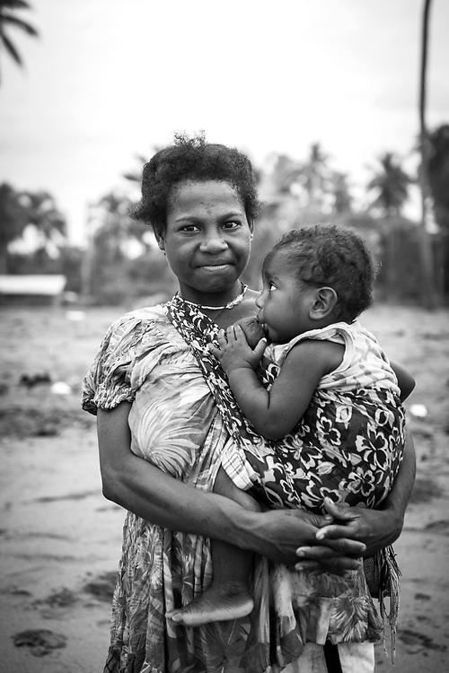 Rita, age 20, and Jos at the beach in Aitape, Papua New Guinea<br /> <br /> (Jul 20, 2017)