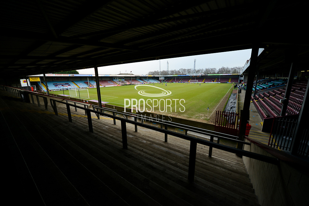 General view inside of The Sands Venue Stadium during the EFL Sky Bet League 2 match between Scunthorpe United and Grimsby Town FC at the Sands Venue Stadium, Scunthorpe, England on 23 January 2021.