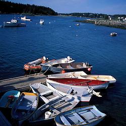 Isle Au Haut, ME. Dinghies in the harbor.