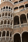 "The Palazzo Contarini del Bovolo, best known for its external multi- arch spiral staircase known as the Scala Contarini del Bovolo (literally, ""of the snail"")."