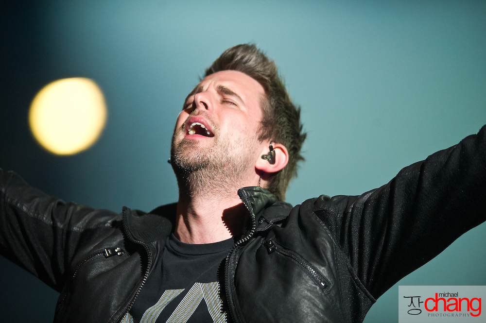 March 4 2012: Sanctus Real performs at Winter Jam at the Mitchell Center in Mobile, AL.