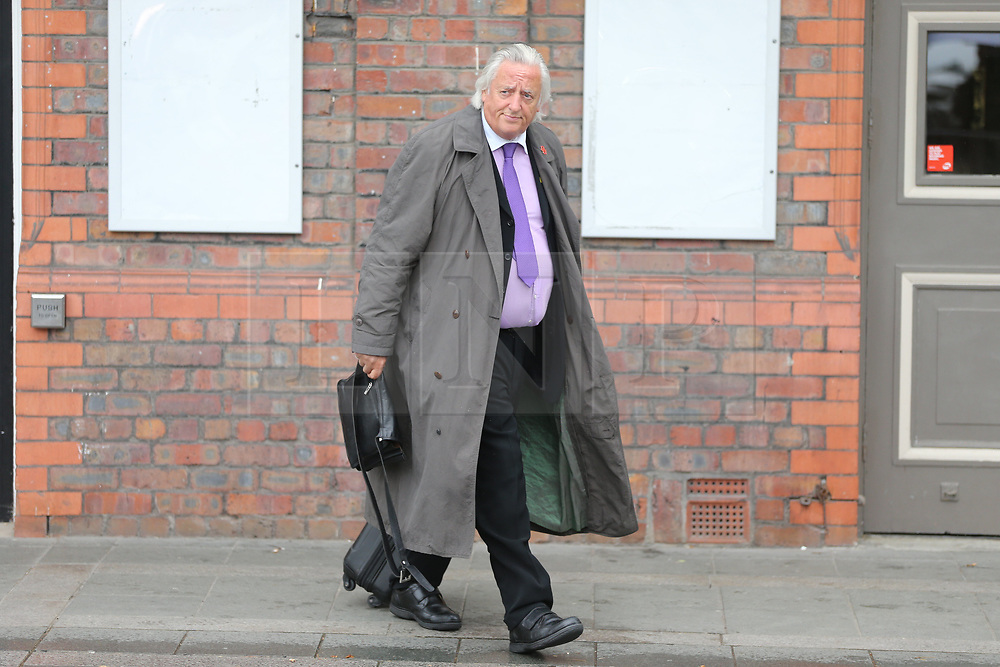 © Licensed to London News Pictures. 28/06/2017. Warrington, UK. Michael Mansfield leaves Parr Hall. Families of the 96 people killed at the Hillsborough disaster in 1989 will today find out if criminal charges will be brought after Prosecutors examining files identified 23 criminal suspects. Families will be informed of the decisions by Sue Hemming, CPS Head of Special Crime & Counter-Terrorism at Parr Hall in Warrington. Photo credit: Andrew McCaren/LNP