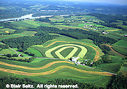 Aerial, Northumberland Co., PA, Farms and Susquehanna River Aerial Photograph Pennsylvania