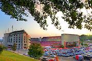 photography print of Reynolds Razorback football stadium at the University of Arkansas
