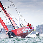© Maria Muina I MAPFRE. Start of Leg 4 from Melbourne to Hong Kong./ Salida de la etapa 4 de Melbourne a Hong Kong.