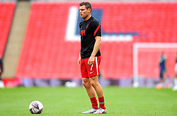 James Milner of Liverpool warms up prior to kick-off - Mandatory by-line: Nizaam Jones/JMP - 29/08/2020 - FOOTBALL - Wembley Stadium - London, England - Arsenal v Liverpool - FA Community Shield