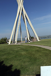 Replica TeePee structure is symbolic and at many South Dakota rest areas.  This one at the Chamberlain Welcome Center on I-90