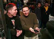 Producer Mark Burnett talks with Mayhem before filming.