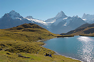 Grindelwald First Lake- Picnic- Bernese Alps - Switzerland .<br /> <br /> Visit our SWITZERLAND  & ALPS PHOTO COLLECTIONS for more  photos  to browse of  download or buy as prints https://funkystock.photoshelter.com/gallery-collection/Pictures-Images-of-Switzerland-Photos-of-Swiss-Alps-Landmark-Sites/C0000DPgRJMSrQ3U