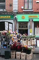 Flower stall on Henry Street Dublin Ireland