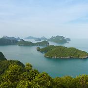 Ang Thong National Marine Park with many small islands and pristine beaches, Ko Wua Ta Lap Ko, Thailand