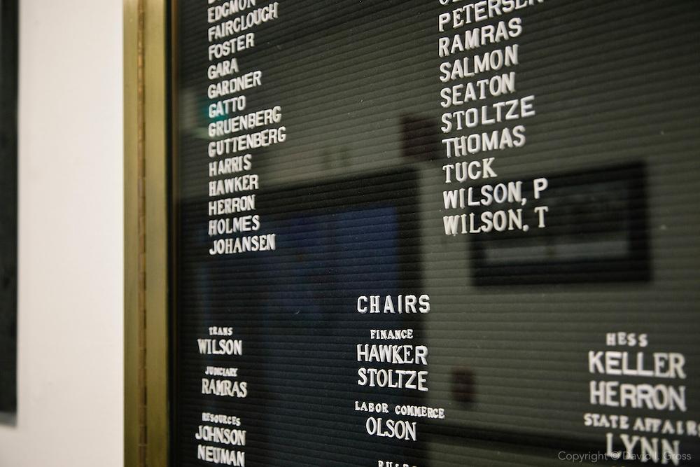 Details in the Alaska State Legislature building.