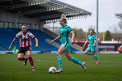 CHESTERFIELD, ENGLAND - Sunday, April 25, 2021: Liverpool's Kirsty Linnett during the FA Women's Championship game between Sheffield United FC Women and Liverpool FC Women at the Technique Stadium. Liverpool won 1-0. (Pic by David Rawcliffe/Propaganda)