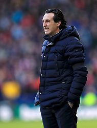 Arsenal manager Unai Emery on the touchline during the Premier League match at the John Smith's Stadium, Huddersfield.
