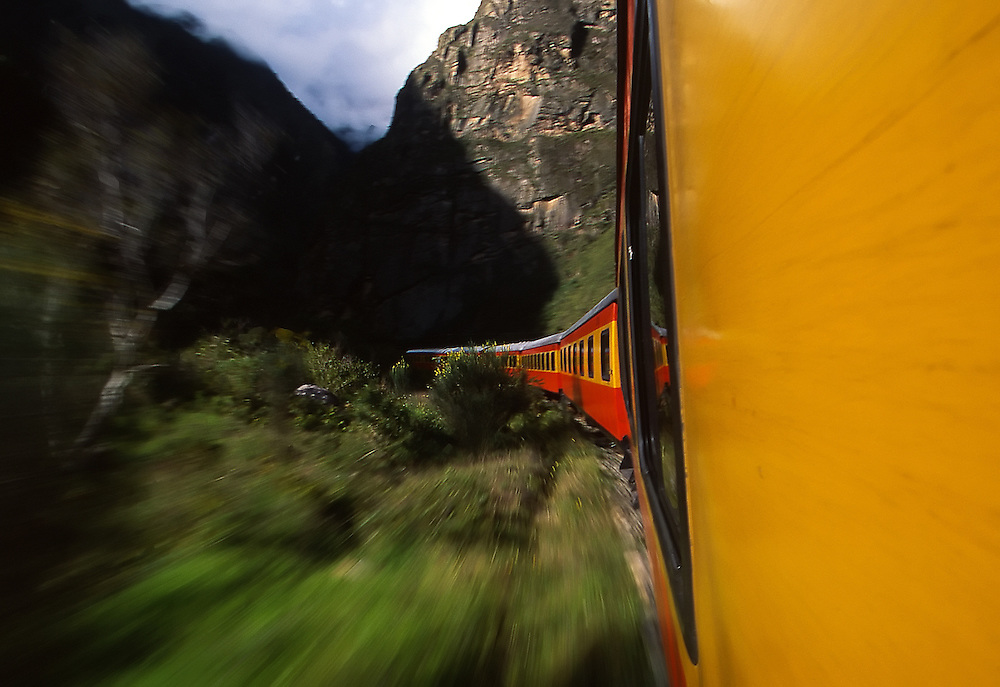 On the train to Machu Pichu, Peru.