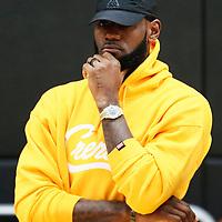 EL SEGUNDO, CA - JUL 13: LeBron James is seen during a press conference on July 13, 2019 at the UCLA Health Training Center, in El Segundo, California.